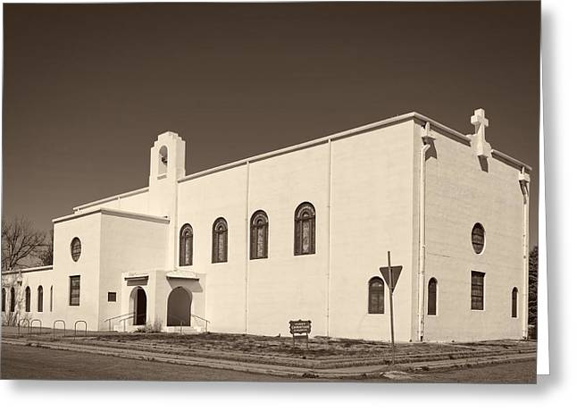 First Christian Church Of Marfa Texas Greeting Card by Mountain Dreams