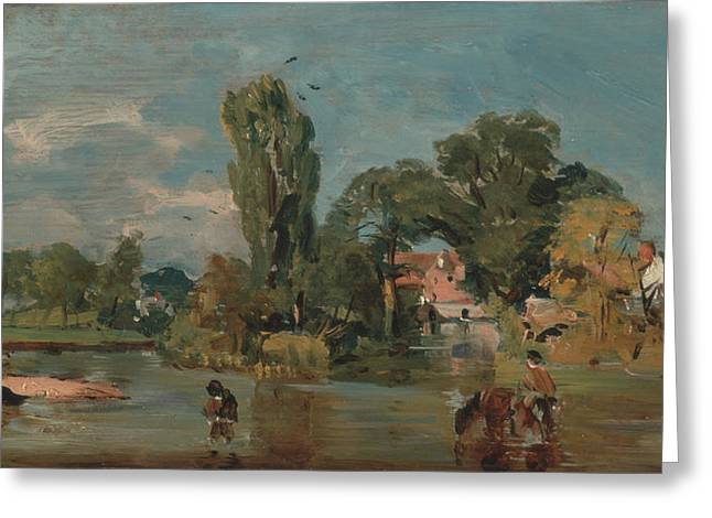 Flatford Mill  Greeting Card by John Constable
