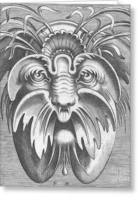 Flemish Mask, 1555 Greeting Card by Science Source