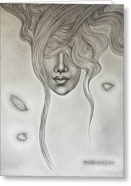 Floating Sorrow Greeting Card