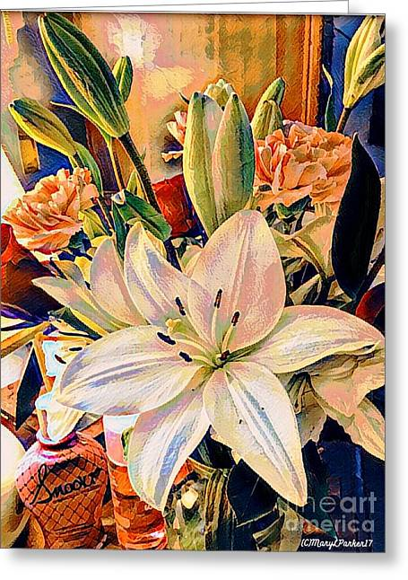 Flowers For You Greeting Card by MaryLee Parker