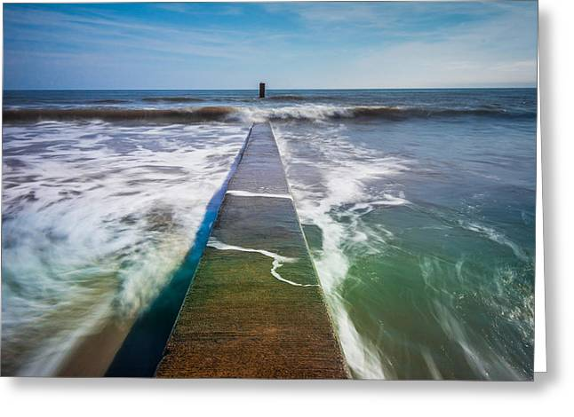 Greeting Card featuring the photograph Folly Beach by RC Pics