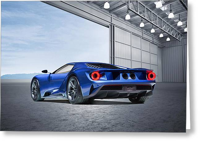 Greeting Card featuring the digital art Ford Gt by Peter Chilelli