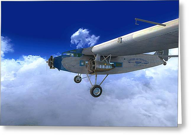 Ford Trimotor Greeting Card