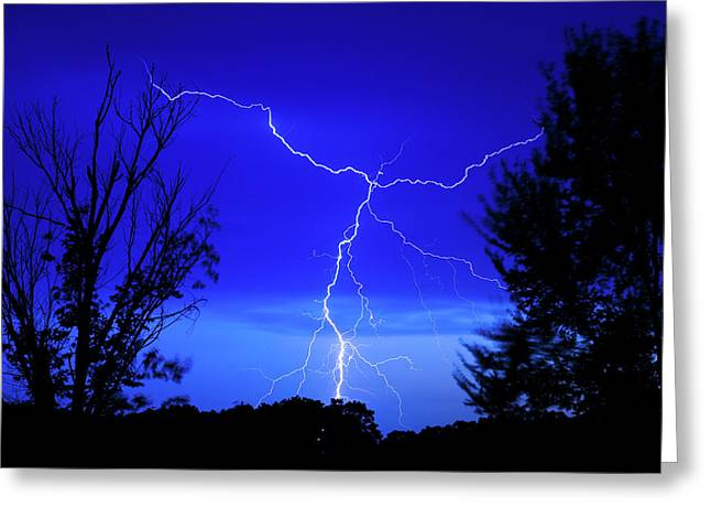 Forked Lightning Greeting Card