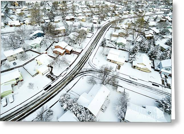 Fort Collins Winter Cityscape Greeting Card