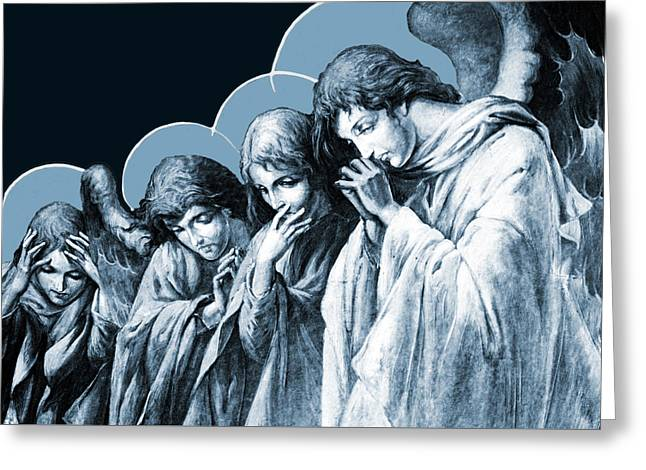 Four Angels Greeting Card