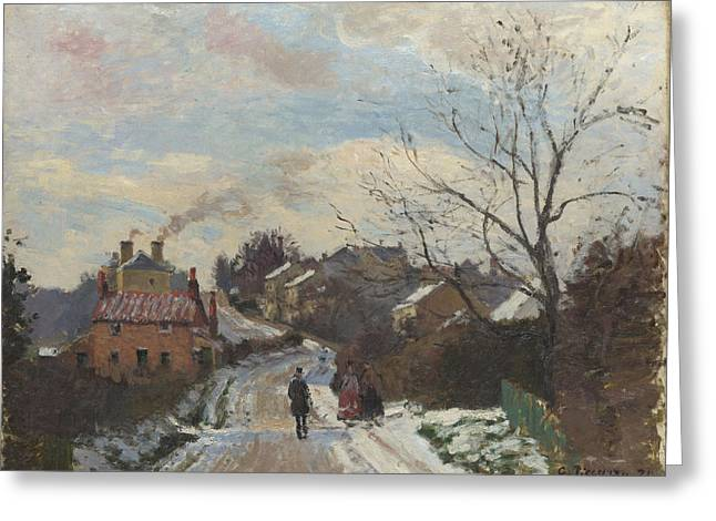 Fox Hill Upper Norwood Greeting Card by Camille Pissarro