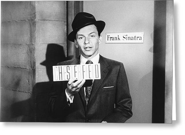 Frank Sinatra Greeting Card by Underwood Archives