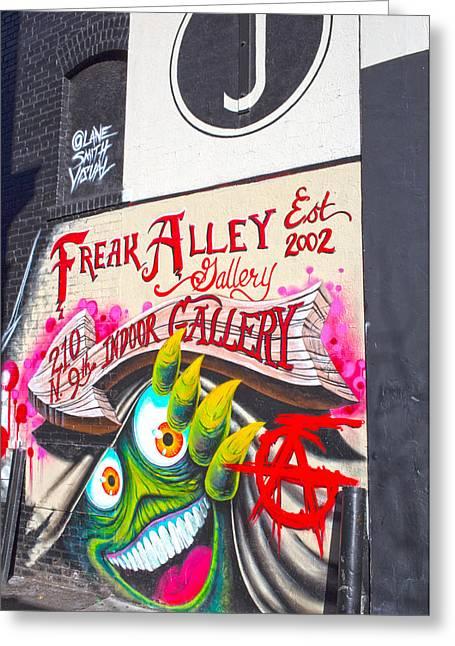 Freak Alley Boise Greeting Card