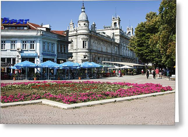 Freedom Square, Ruse, Bulgaria Greeting Card by Sally Weigand