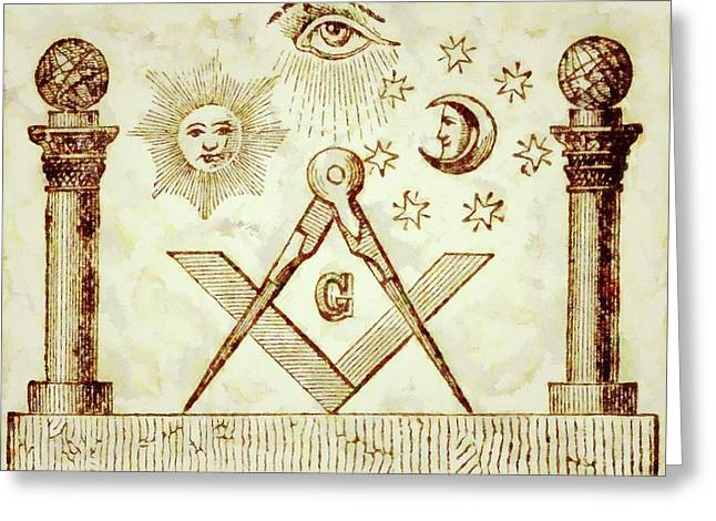 Freemason Symbolism By Pierre Blanchard Greeting Card