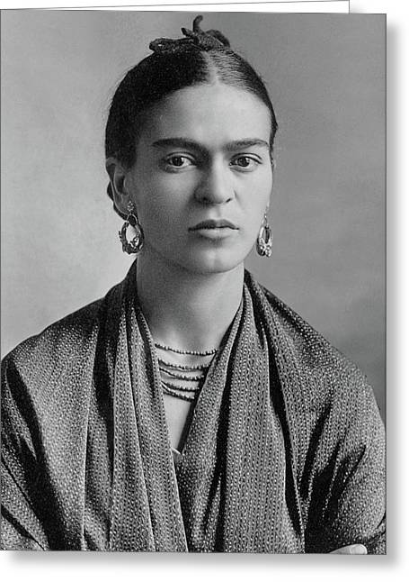 Frida Kahlo Greeting Card by Pg Reproductions