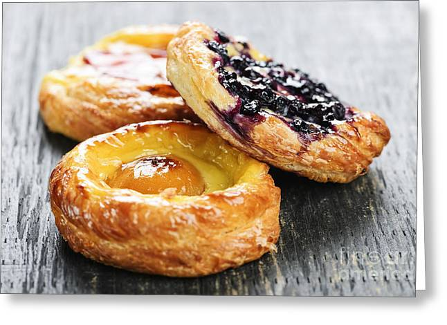 Fruit Danishes Greeting Card