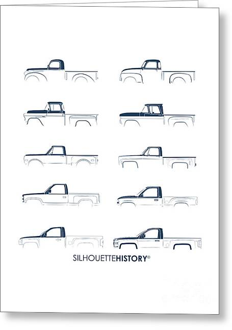 Fullsize Pickup Silhouettehistory Greeting Card by Balazs Iker