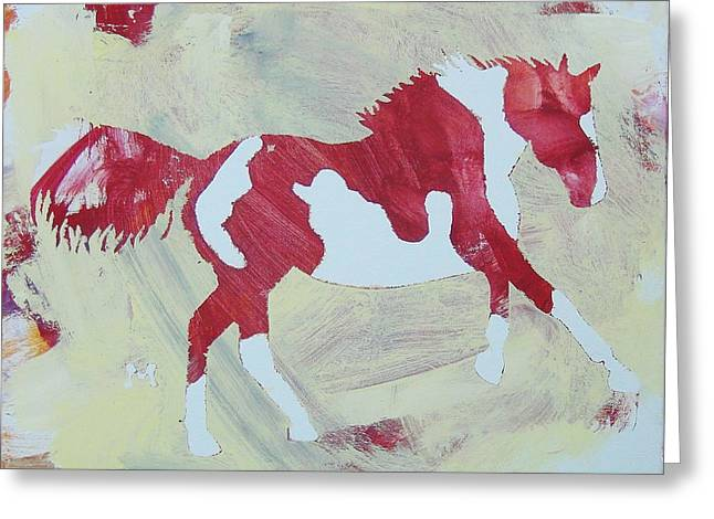 Galloping Pinto Greeting Card