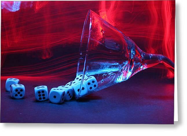 Gamblers Martini Greeting Card by Michael Ledray