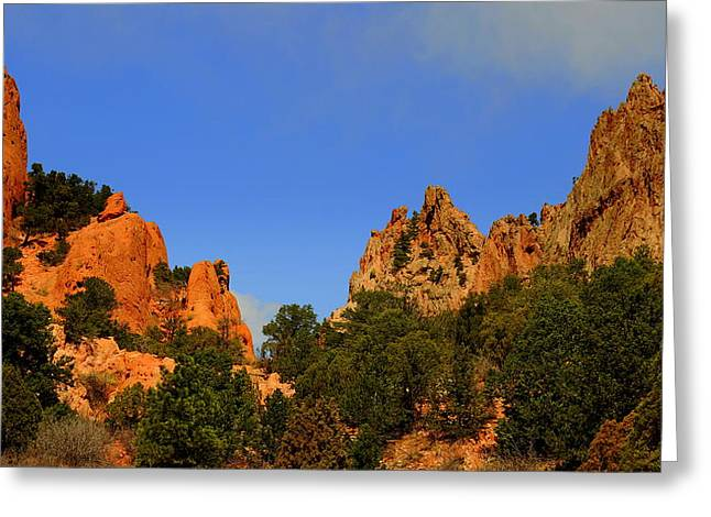 Garden Of The Gods Greeting Card by Patrick  Short