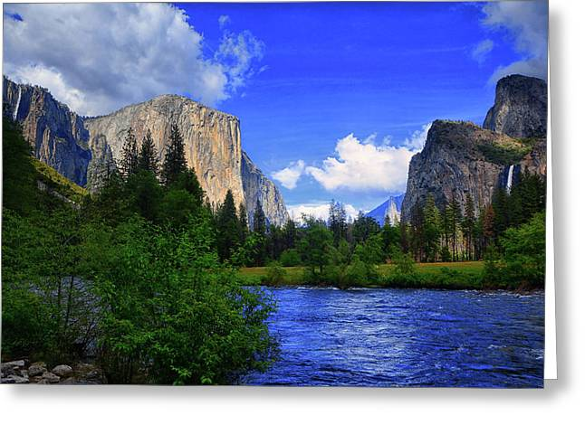 Gates Of The Valley Greeting Card by Raymond Salani III