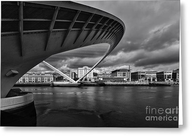 Gateshead Millennium Bridge Greeting Card by Nichola Denny