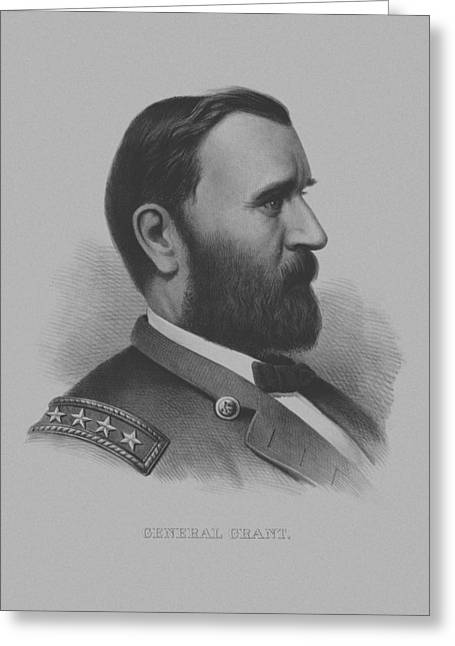 Grant Greeting Cards - General Grant Greeting Card by War Is Hell Store