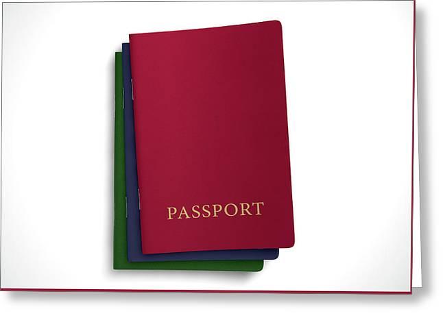 Generic Passport Stack  Greeting Card
