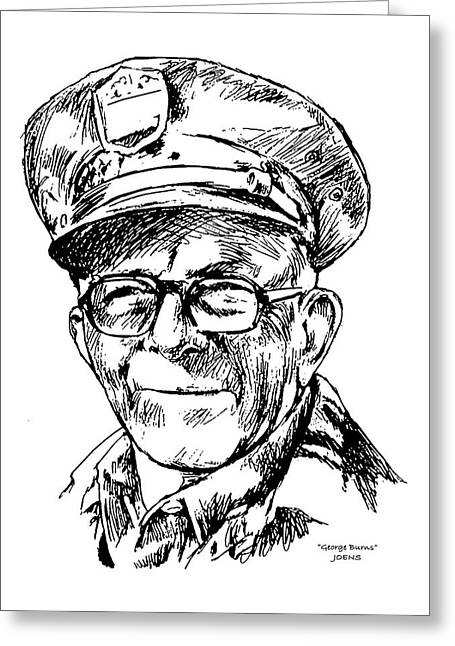 George Burns Greeting Card