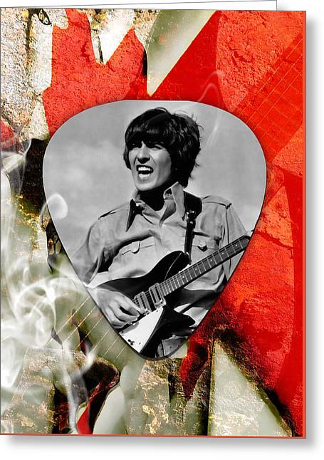 George Harrison Beatles Art Greeting Card