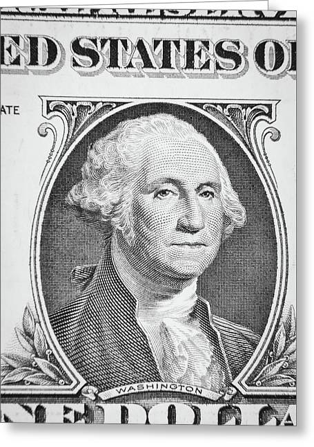 Greeting Card featuring the photograph George Washington by Les Cunliffe