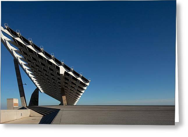 Giant Solar Panel, Parc Del Forum Greeting Card