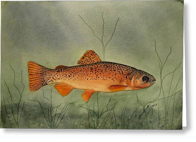 Gila Trout Greeting Card