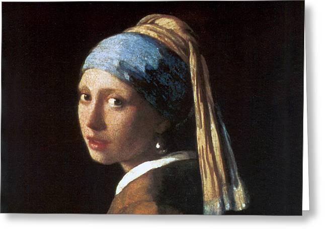 Girl With A Pearl Earring Greeting Card by Jan Vermeer