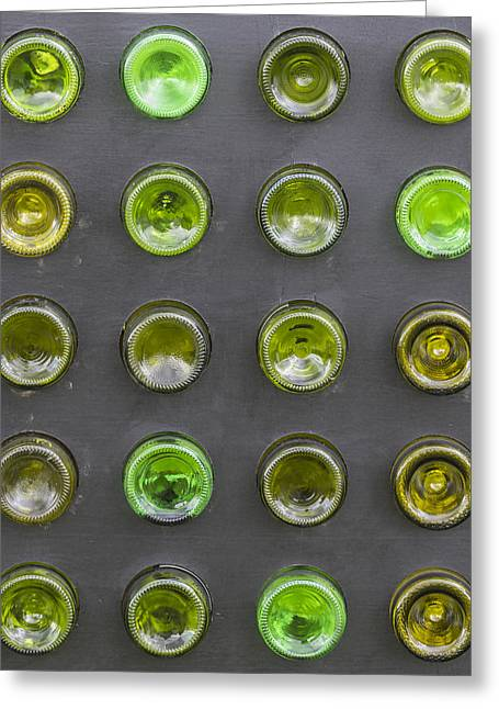 Glass Bottles Greeting Card by Chris Smith