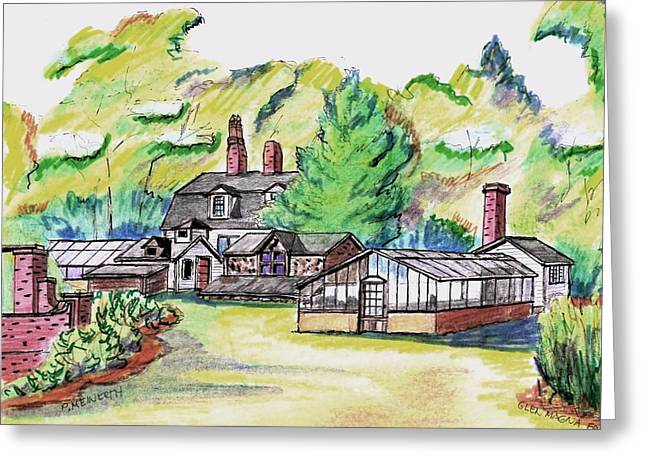 Glen Magna Farms Green House Greeting Card by Paul Meinerth