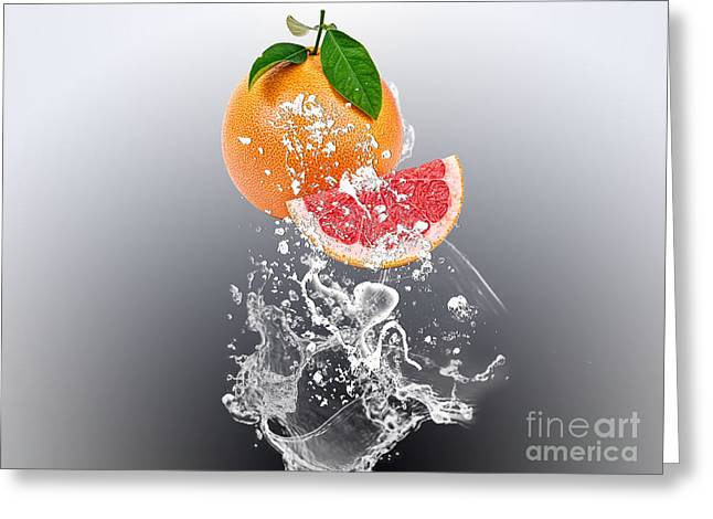 Grapefruit Splash Greeting Card