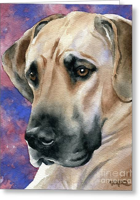 Great Dane Greeting Card by David Rogers