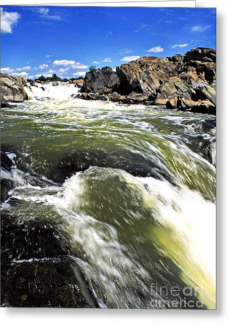 Great Falls Of The Potomac River Greeting Card by Thomas R Fletcher