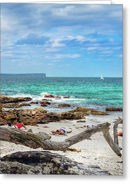 Greenfield Beach, Nsw, Australia Greeting Card by Saami Ansari