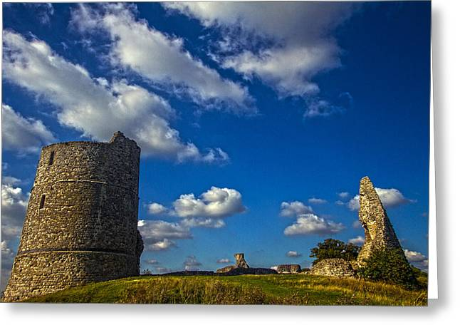 Hadleigh Castle Essex Greeting Card by David French