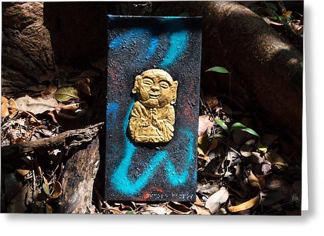 Halcyon Buddha Greeting Card