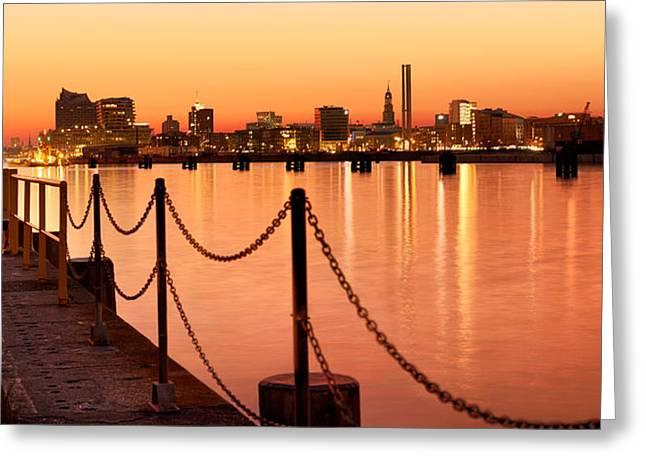 Hamburg Skyline Greeting Card