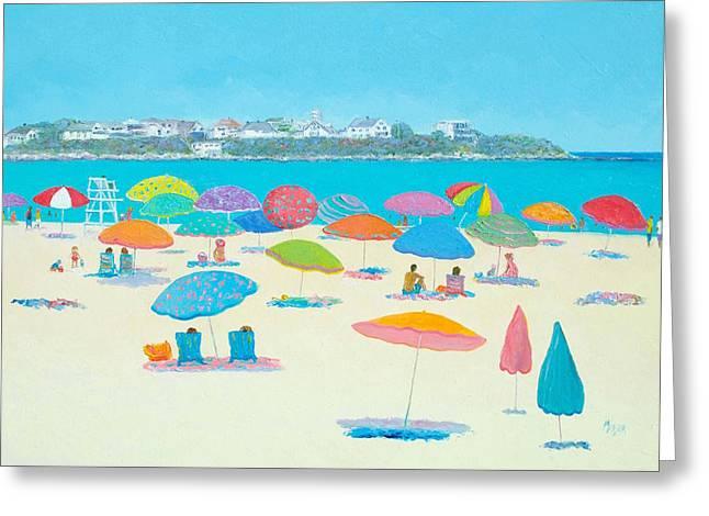 Hampton Beach And Boars Head Greeting Card by Jan Matson