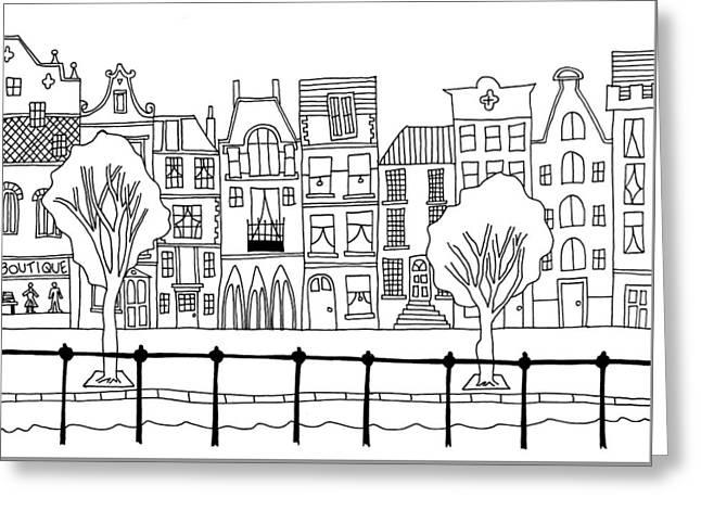 Hand Drawn Whimsical Cartoon Style Hand Drawn Sketch Illustratio Greeting Card