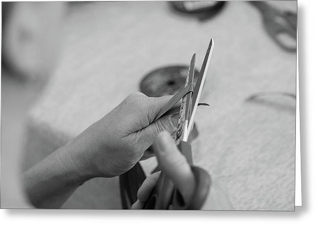 Hands At Work.  Greeting Card
