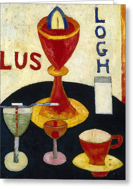 Handsome Drinks Greeting Card by Marsden Hartley