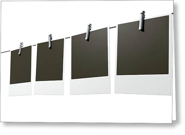 Hanging Instant Photograph Gallery Greeting Card by Allan Swart