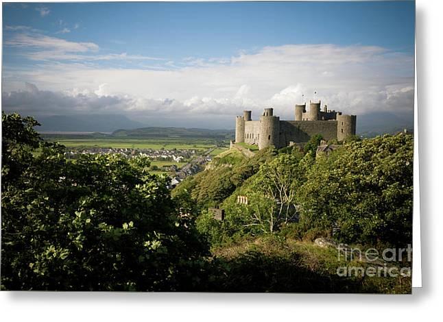 Harlech Castle, Snowdonia, Gwynedd, North Wales, Uk Greeting Card