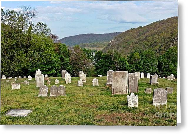 Harper Cemetery Greeting Card by Ben Schumin