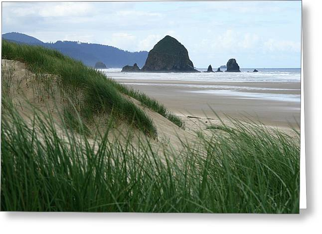 Haystack Rock From Chapman Point Greeting Card