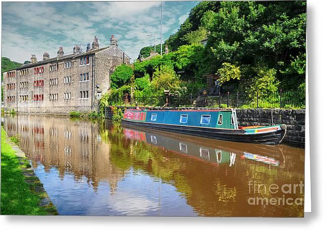 Hebden Bridge Greeting Card by Nichola Denny